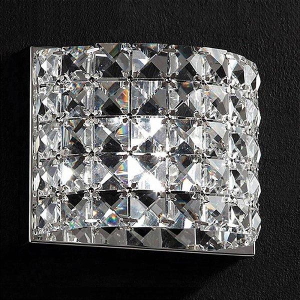 ARANDELA Bella Ilumy HO2661W SONATA Cristal Lapidado  Cromado Transparente 13CMX9CMX13CM  1XG9
