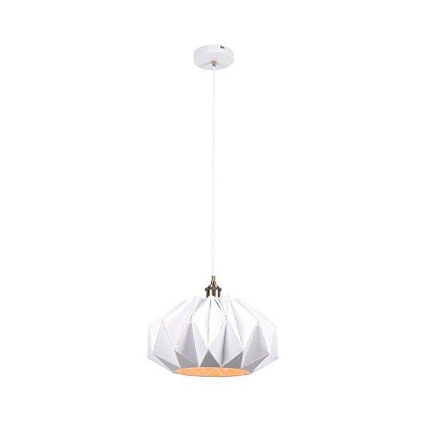 PENDENTE Bella Ilumy KE003W ORIGAMI Industrial Cupula Branco 35cm x 20cm  1xE27 BIVOLT