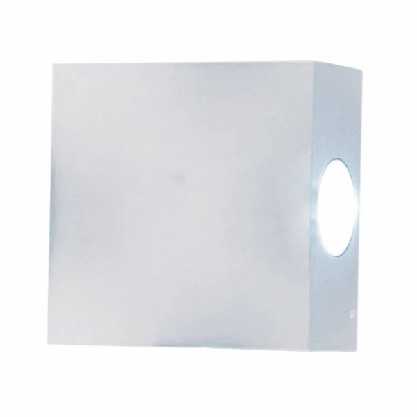 ARANDELA Bella Ilumy LX1015W CASE LED Branco Quadrada 11x11cm 4W