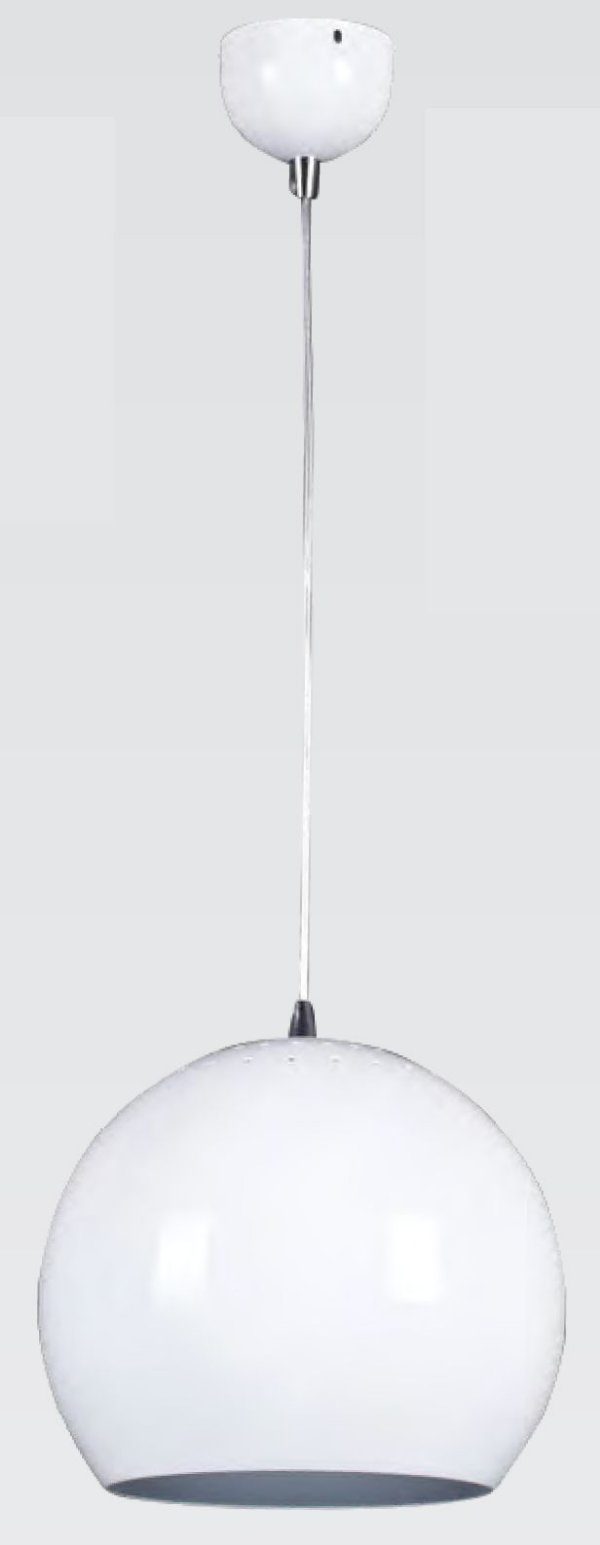 PENDENTE Bella Ilumy MH005D Vertical Esfera Aluminio Branco 28CMX27CM 1XE27