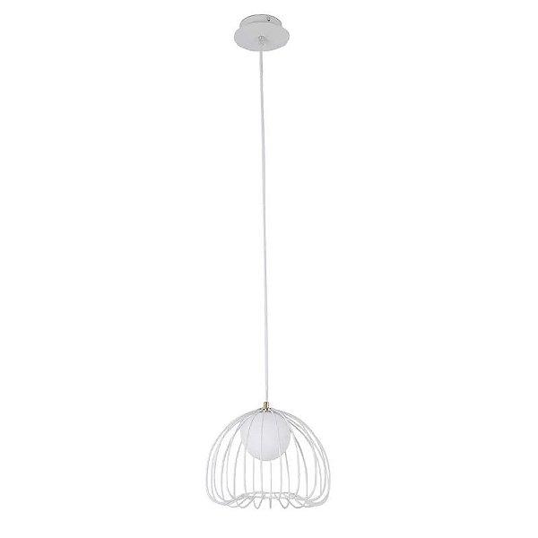 PENDENTE Bella Ilumy ML005W LAMP Aramado Branco 50cm x 41cm  1xG9 BIVOLT