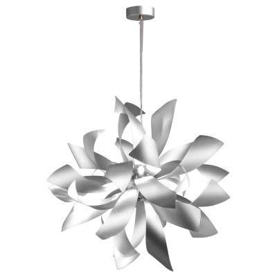 PENDENTE Bella Ilumy RE001W ATMO Folhas Moderno Floral Branco A65xL65xC180xD65  6xG9