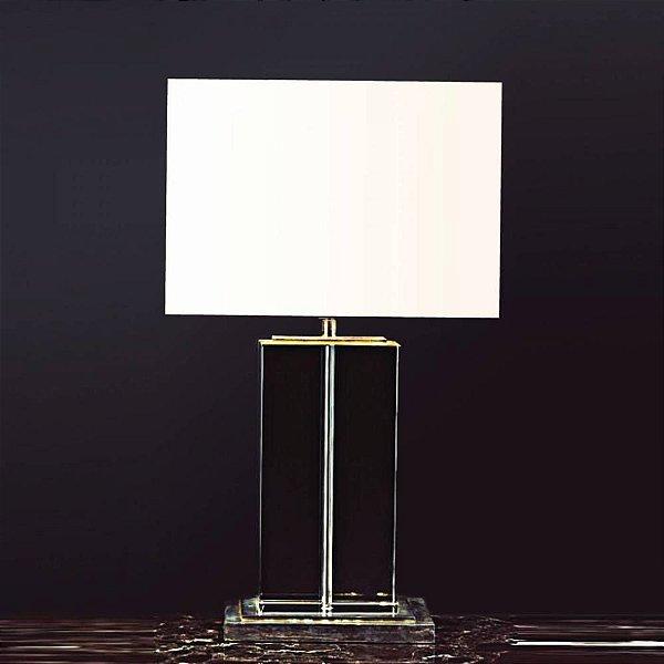 BASE P/ ABAJUR Bella Ilumy XL1115 CLASSIC Pilar Cristal Cromado Transparente 42CMH 1XE27-