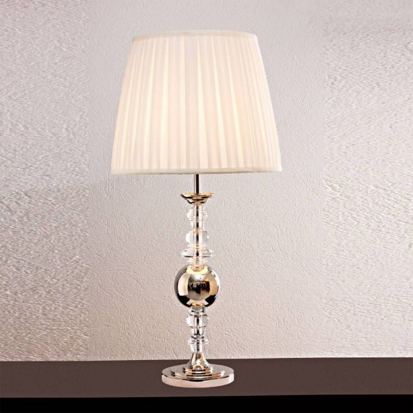 BASE P/ ABAJUR Bella Ilumy XL1468 CLASSIC Pilar Cristal Cromado Transparente 59CMH 1XE27-