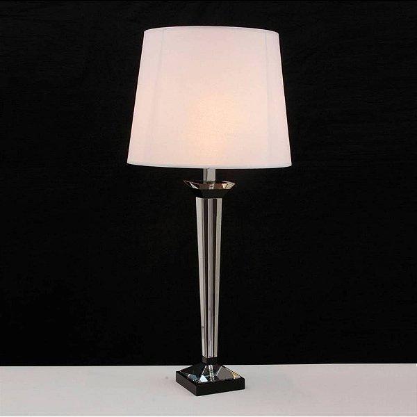 BASE P/ ABAJUR Bella Ilumy XL1521 CLASSIC Pilar Cristal Cromado Transparente 65CM H 1XE27-