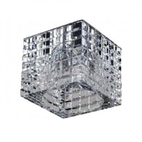 SPOT Bella Ilumy YD892 EMBUTIDO Quadrado CRISTAIS Transparente 1XDICROICA