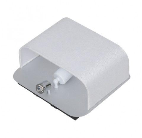 ARANDELA Bella Ilumy ZU010A Metal Tecido Direcionavel Aluminio Escovado Branco Cabeceira 28CMX13CMX24CM  1XE27 LED1W