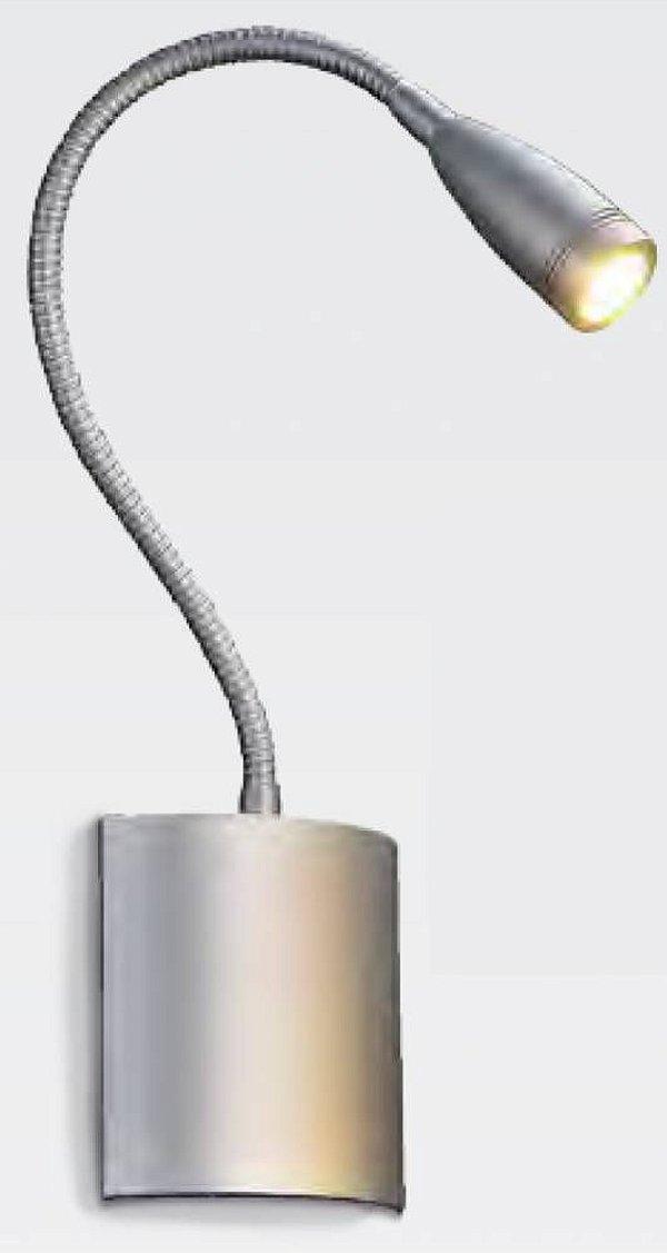 ARANDELA Bella Ilumy ZU012 FLEX Articulada em Led Prata FOSCO 9CMX4CMX42CM  LED3W