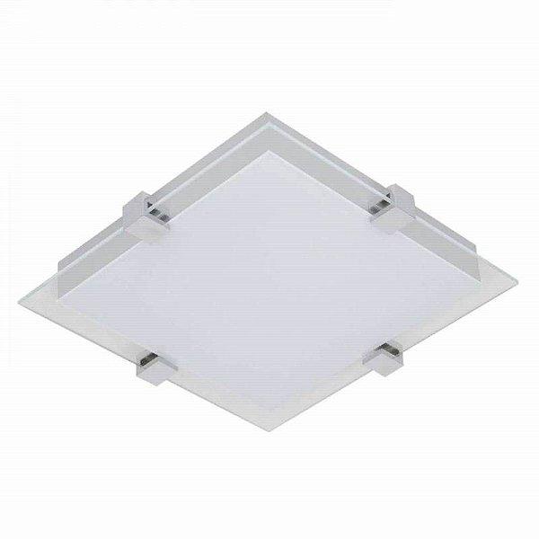PLAFON Bella Ilumy ZU018L Metal Quadrado Vidro Preto Branco 40CMX40CMX7CM  LED20W
