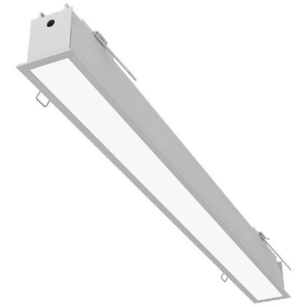 Plafon EMBUTIDO Newline NLN FIT 40 LED Perfil Moderno EM0402LED3 32W 3000K Luz Quente 127/220V 1155X52X70MM