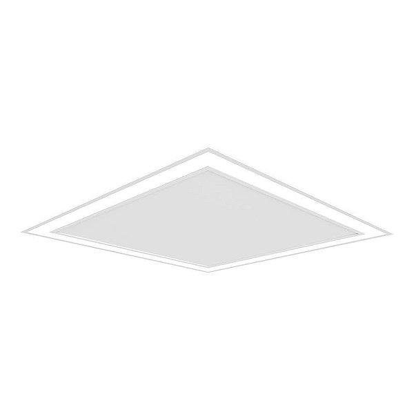 Plafon EMBUTIDO Newline NLN FIT EDGE Led Quadrado Moderno EM0123LED4 33,6W 4000K Luz Fria 127/220V 420X420X40MM