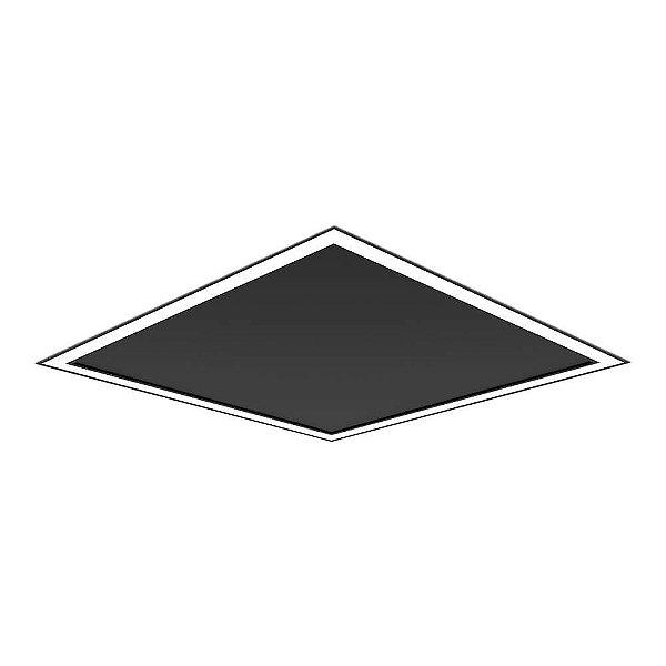 Plafon EMBUTIDO Newline NLN FIT EDGE Led Quadrado Moderno EM0124LED4 32W 4000K Luz Fria 127/220V 616X616X40MM