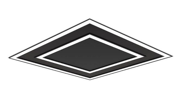 Plafon EMBUTIDO Newline NLN FIT EDGE Led Quadrado Moderno EM0125LED3 65,6W 3000K Luz Quente 127/220V 616X616X40MM
