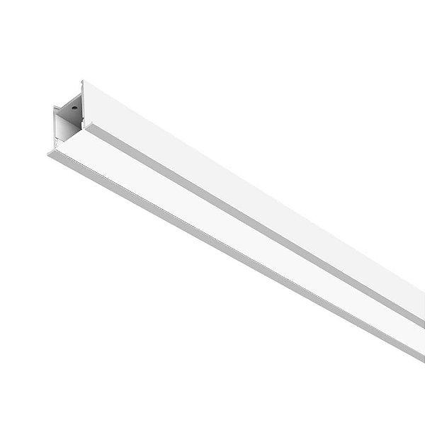 SISTEMA DE EMBUTIR Newline NLN FIT 25 LED SL0123LED3 6,3W 4000K Luz Fria 127/220V 525X36X45MM