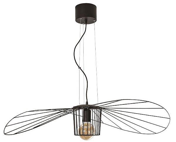 PENDENTE AGUILA  17193/1 Usina Iluminação Aramado Moderno Suspenso Filamento Ø95cm x 16cm  1m
