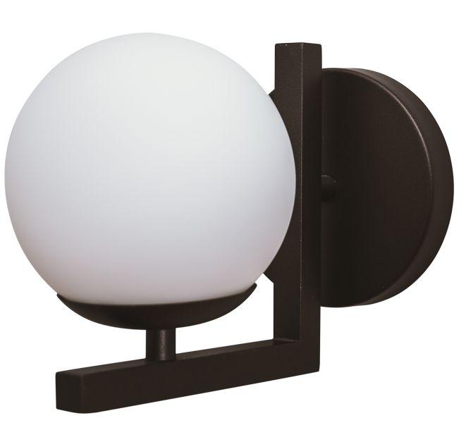 ARANDELA ANGULAR 16459/12 Usina Iluminação Moderna com GLOBO Vidro Ø120mm 120x155x190