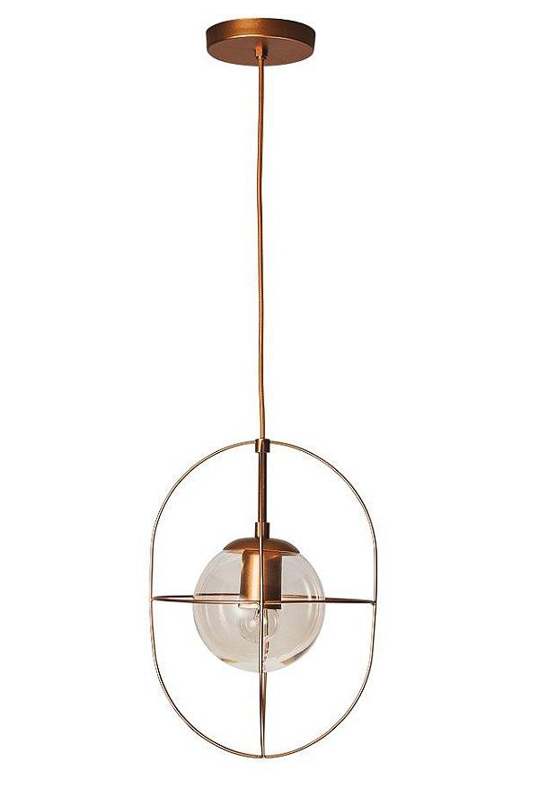 PENDENTE ARGO Usina Iluminação 17150/1 Aramado Moderno com GLOBO DE VIDRO Ø140mm x Ø23x35x1m x 1-E27/G45