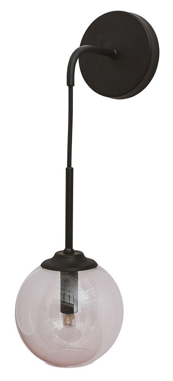 ARANDELA BALL 16411/14 Usina Iluminação Usina Iluminação Vintage com GLOBO DE VIDRO Ø14X45X12cm x 1 x G9