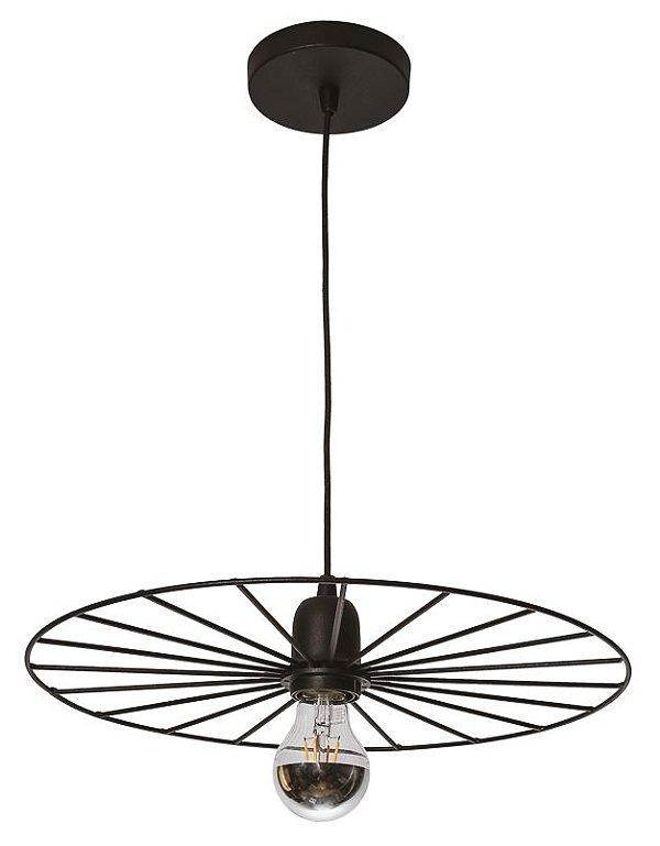 PENDENTE BIKE Usina Iluminação 17196/48 Redondo Aramado Moderno Esfera x Ø480x90x1000 x 01 - E27