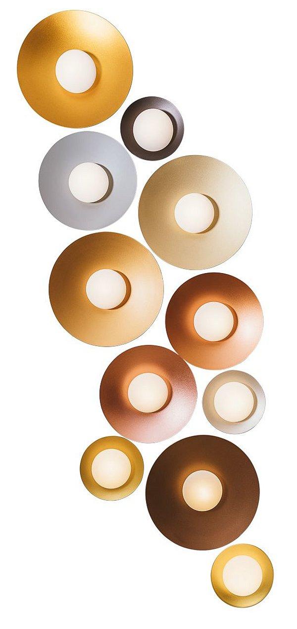 PLAFON IMPULSE Usina Iluminação Redondo LED x Ø35X7cm x 1xPCI LED 5W(110 OU 220V)
