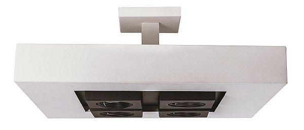 PLAFON MOOM Usina Iluminação 16620/50 Quadrado Moderno Foco x  50X50 cm x 4 - E27 / 04 - GU10 MR16
