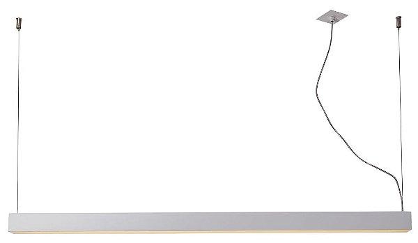 PENDENTE RÉGUA 16360/65 NAZCA Usina Iluminação Perfil Linear Haste Moderno   x 4,9 X 65cm X 4,7 (1m cabo) x 1 - T8 - 60Cm