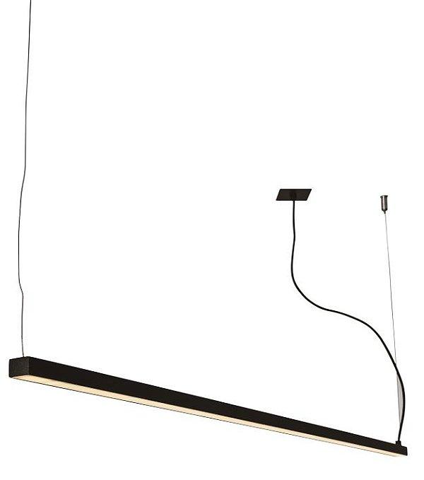 PENDENTE RÉGUA 16363/200 NAZCA Usina Iluminação Perfil Linear Haste Moderno   x 4,9 X 2M X 4,7 (1m cabo) x Fita LED