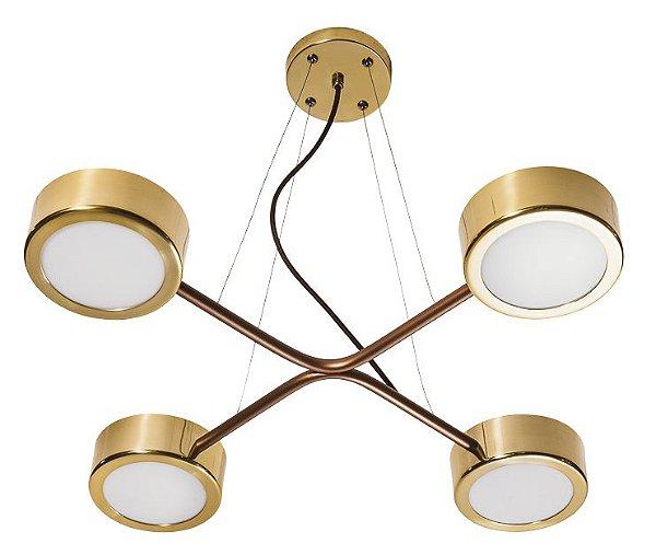 PENDENTE SPINNER 16581/4 Usina Iluminação Moderno Hastes Suspenso x Ø60 x 47 x 1m Cabo x 4 Lampadas G9
