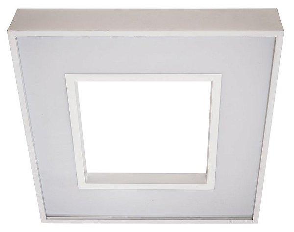 Plafon BELIZE Usina LED Quente Difusor EM ACRILICO Ilum. Direta e Indireta x 48x48cm x LED36,8W 3000K/BIVOLT