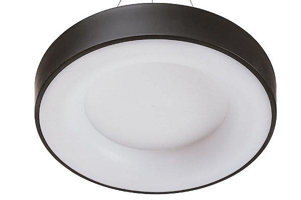 Plafon DÂNDI Redondo Usina Iluminação LED Quente Difusor EM ACRÍLICO Ilum. Direta Indireta x Ø53 X 9cm x LED30,5W 3000K/BIVOLT 19000/53 LED3