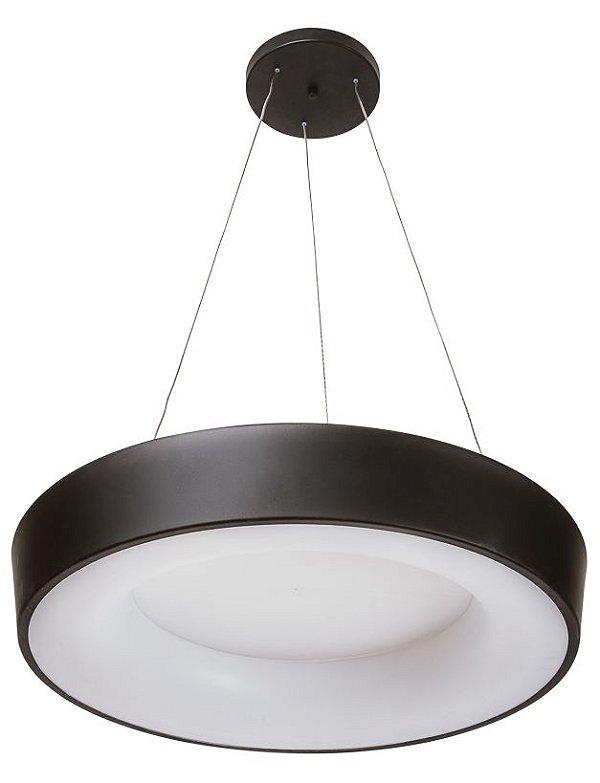 Pendente DÂNDI Redondo Usina Iluminação LED Quente Difusor EM ACRI. Ilum. Direta Indireta x Ø44 X 9cmX1000 x LED20,5W 3000K/BIVOLT 19001/44 LED3