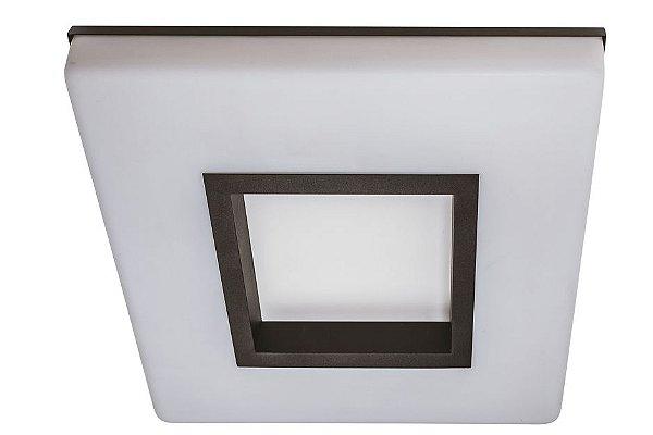 Plafon VIVAZ 19020/34 LED4 Usina Iluminação LED 4000k  Difusor Acrilico Quadrado Ilum. Direta Indireta x 340x340 x LED24,4W 4000K/BIVOLT