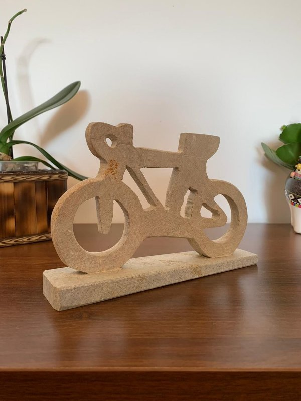 Bicicleta decorativa Pedra Sabão| Pedalemos