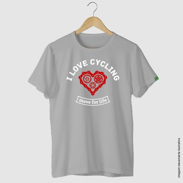 Camiseta Ciclismo I love cycling move for life