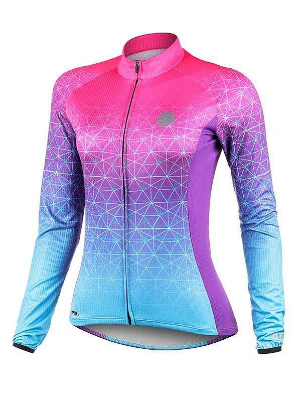 Camisa ciclismo feminina Performance ML Weft Mauro Ribeiro