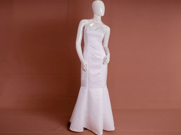 Vestido de Noiva Semi Sereia Simples