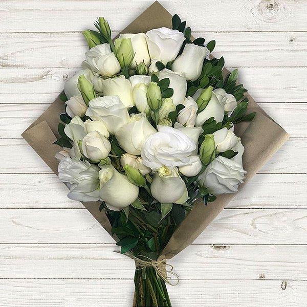 Buquê Rosas Brancas da Coleção Colorê