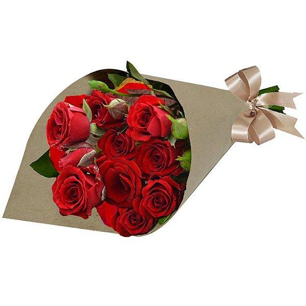 Buquê de Rosas Nacionais Vermelhas