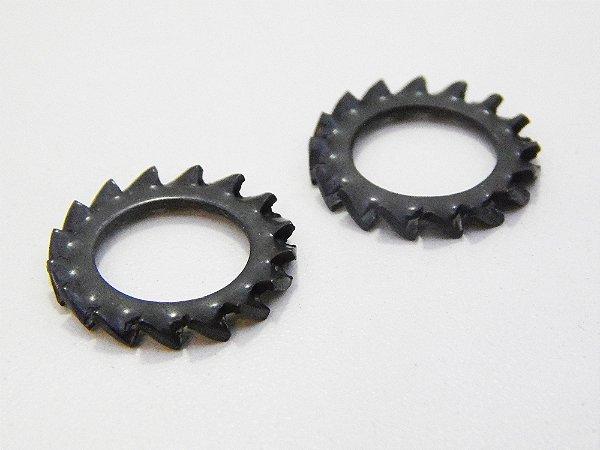 Arruela Dentada Externa M4 - Aço Mola (Embalagem 100 Peças)