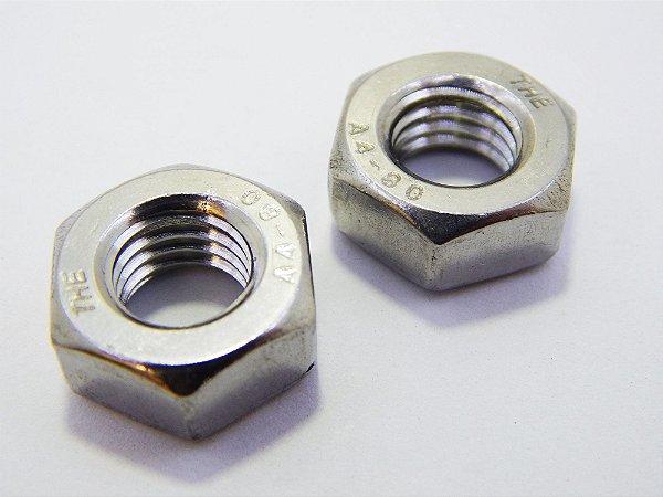 Porca Sextavada M8 Aço Inox 316 (Embalagem 10 peças)