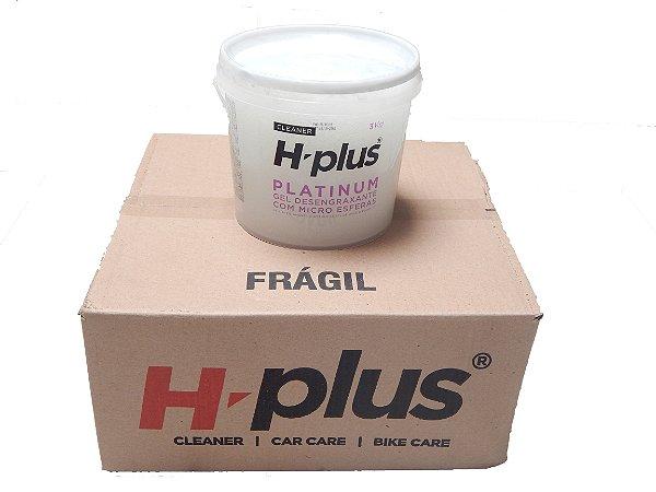 Gel Desengraxante H-Plus Platinum 3 Kg - Caixa com 4 baldes