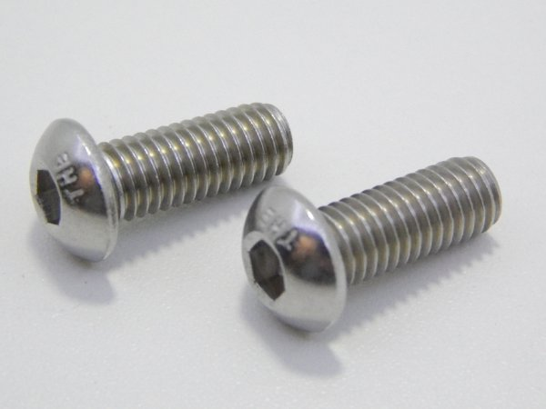 Parafuso Allen Cabeça Abaulada M3 x 8 Aço Inox (Embalagem 20 peças)