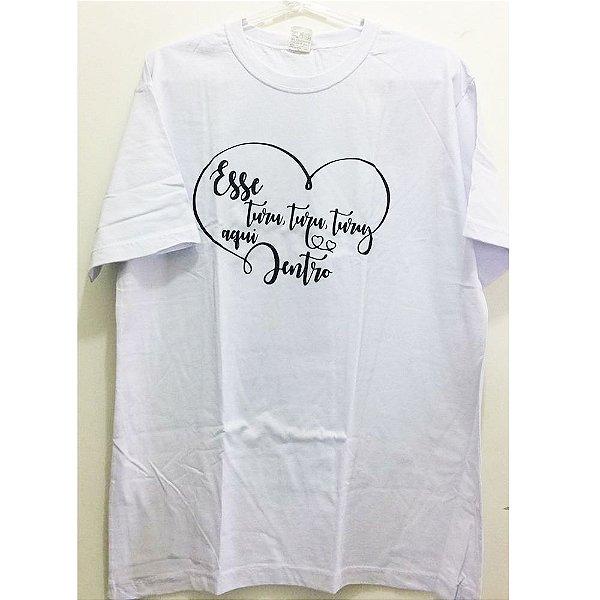 Camiseta G Branca - Turu Turu Coração
