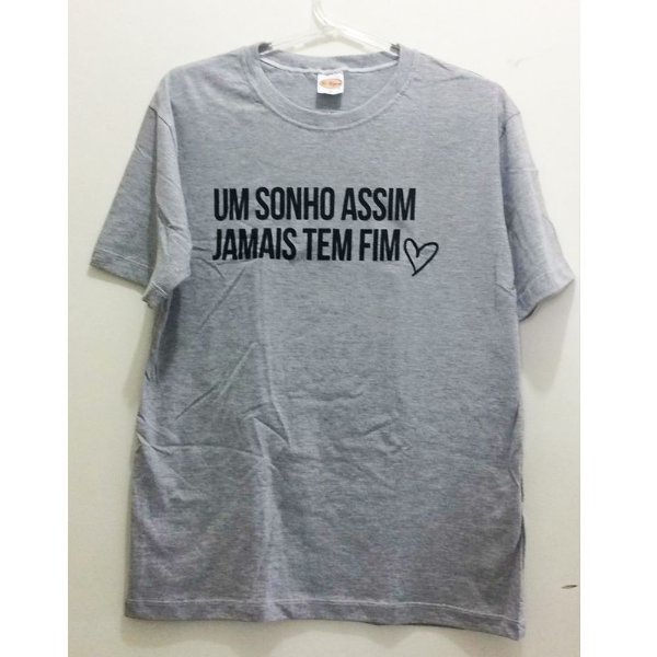 Camiseta P Cinza Mescla - Um sonho assim