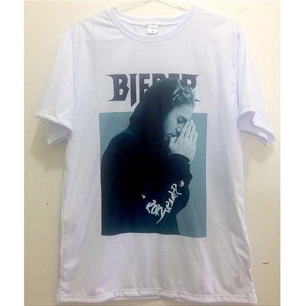 Camiseta M Branca - Justin Bieber