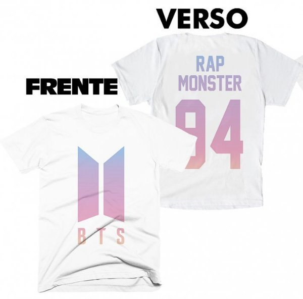 Camiseta BTS - Team Rap Monster