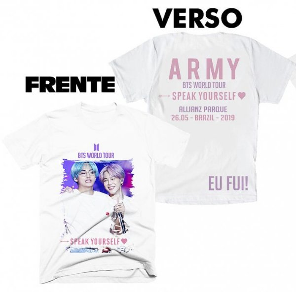 Camiseta BTS Speak Yourselfe Tour Brasil - 3