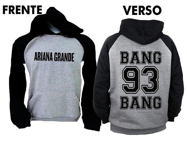 Moletom Raglan Ariana Grande - Bang Bang