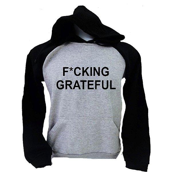Moletom Raglan Ariana Grande - FUCKING GRATEFUL
