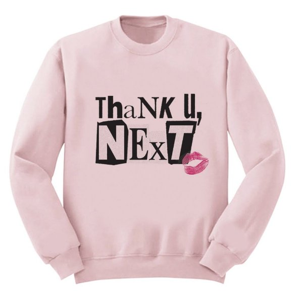 Moletom Rosa Ariana Grande - Thank U, Next - 2